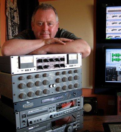 Denis in the mastering studio